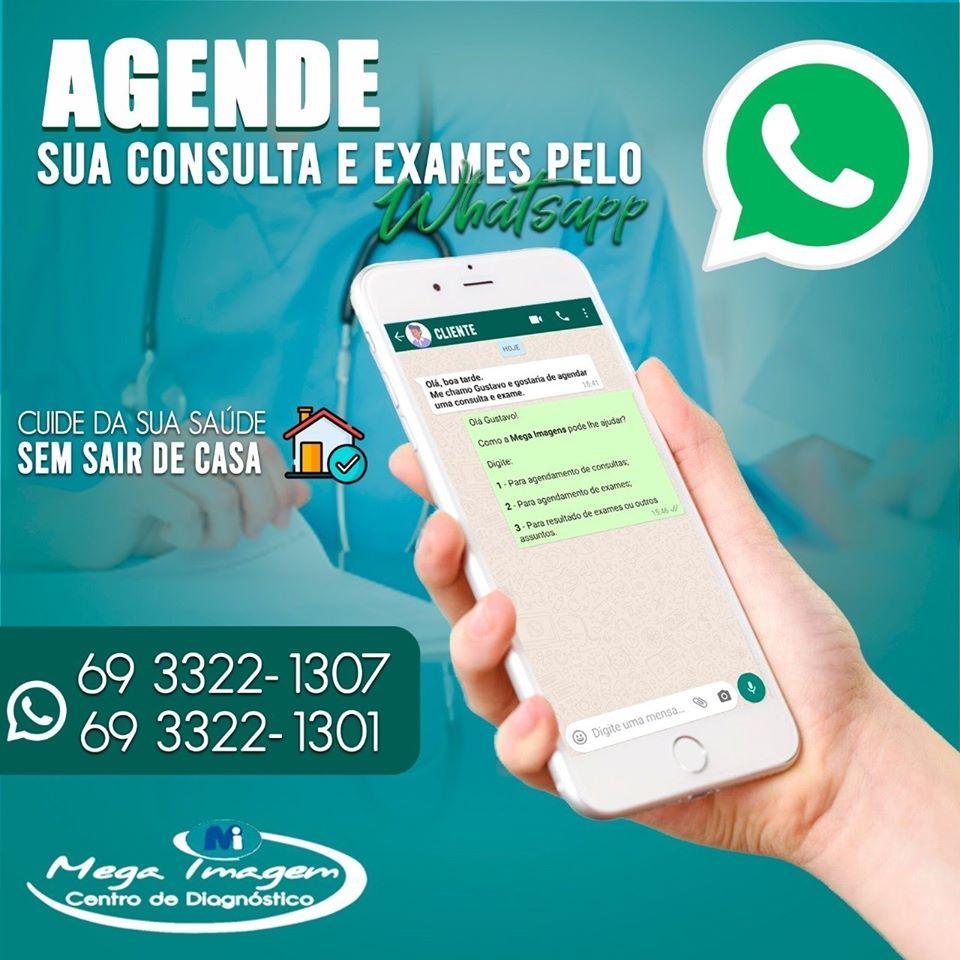 Agende sua consulta pelo WhatsApp