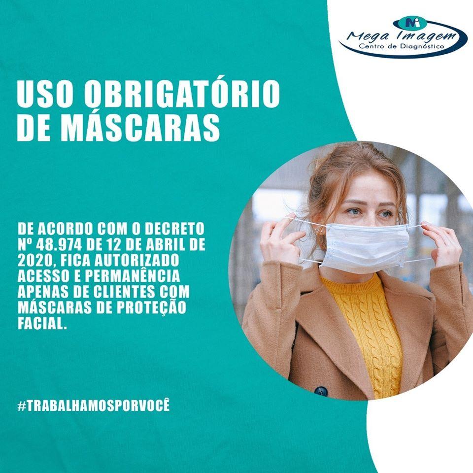 Clientes conforme decreto é obrigatório o uso de máscaras ao sair de casa.